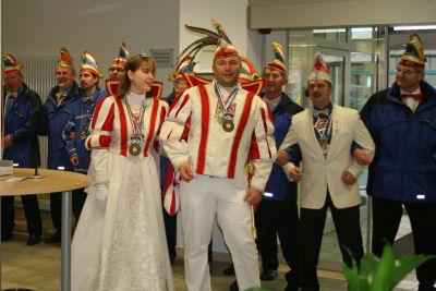 2009 Rosenmontag in der Raiffeisenbank
